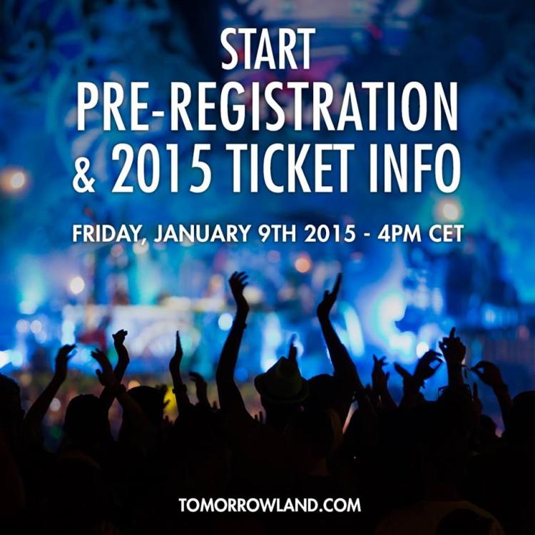 TomorrowLand 2015 Бельгия Pre-registration start